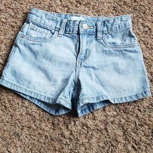 Girls size 8 slim jean shorts